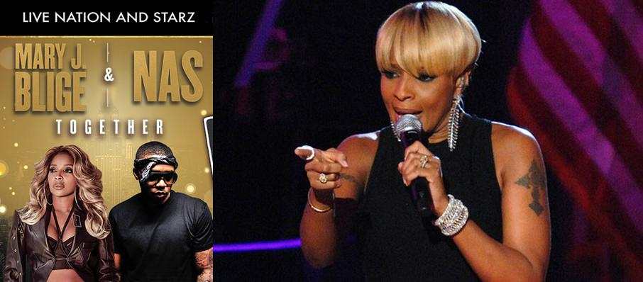 Mary J Blige and Nas at Bankers Life Fieldhouse