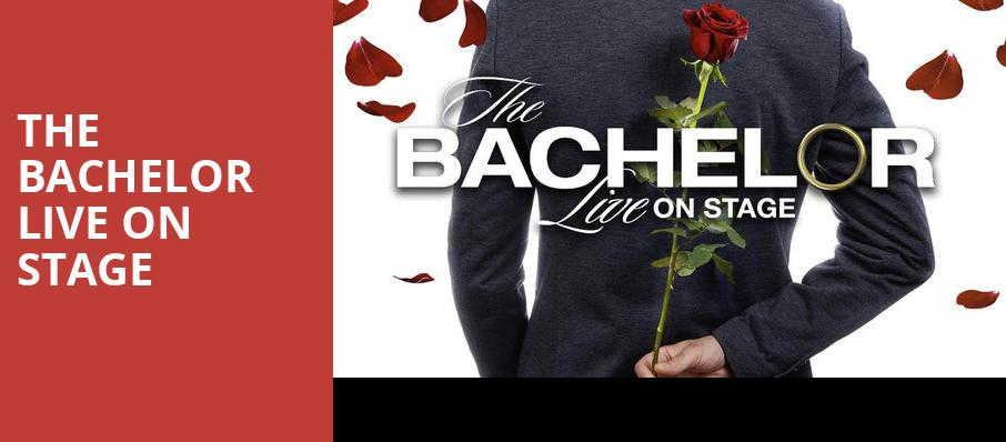 The Bachelor Live On Stage, Clowes Memorial Hall, Indianapolis